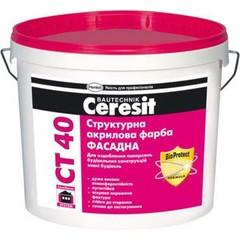 Краска структурная акриловая Ceresit СТ40 База 10л