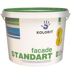 Краска фасадная Kolorit Стандарт LC 10л