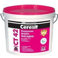 Краска акриловая Ceresit СТ42 База 10л