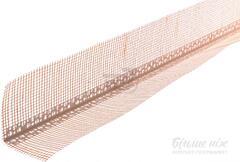 Уголок ПВХ перфориванный с сеткой 2,5м