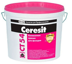 Краска силикатная Ceresit СТ54 База 10л
