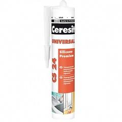 Герметик Ceresit универсальний силиконовый белый 280мл  CS 24