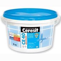 Эластичный  водостойкий цветной шов Ceresit СЕ40 2-5мм салатовый 2кг