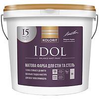 Краска интерьерная Колорит Idol базис А 9л