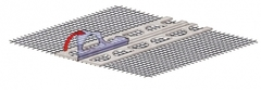 Профиль угловой со стеклосеткой (23мм х 23мм х 2,5м сетка: 100мм х 100мм) Ceresit СТ340 D/03 (50шт)