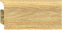 Плинтус-короб с коэкструзией, Дуб светлый 2,5м/п
