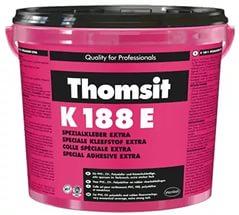Водно-дисперсионный клей для ПВХ покрытий и покрытий с полимерной основой Thomsit K 188 E 12 кг