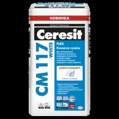 Клей для мрамора и мозаики Ceresit CM117/25 кг white