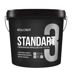 Краска интерьерная Колорит Standart 3, база C 9л