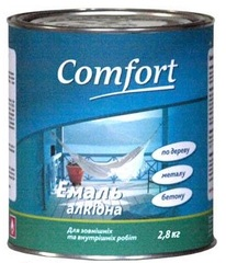 Эмаль Comfort ПФ-115 красно-коричневая 2,8кг