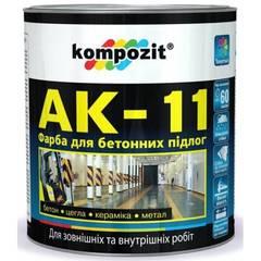 Краска для бетонных полов АК11 серая 2,8кг