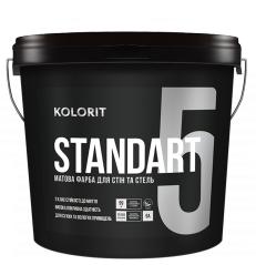 Краска интерьерная Колорит Standart 5 база А 9л
