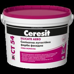 Краска силикатная Ceresit СТ54 AERO База А 10л