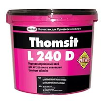 Водно-дисперсионный клей для натурального линолеума Thomsit L 240 D 14кг