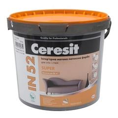 Краска интерьерная матовая Ceresit IN52 Super База А 10л