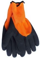 Перчатки СТАЛЬ оранжево-черные латекс