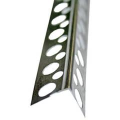 Уголок перфорированный алюминиевый 25*25/3м