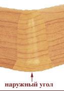 Плинтус-короб угол наружный Бук орландо