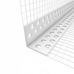 Профиль пластиковый угловой для мокрой штукатурки 3,0 м Ал