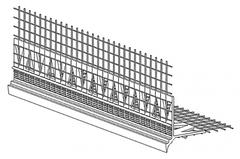 Профиль угловой со стеклосеткой с капельником (20мм х 20мм х 2,5 м, сетка: 110мм х 110мм) Ceresit СТ340 D/29.2 (25шт)