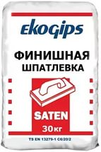 Шпаклевка финишная Экогипс Saten Eko 30 кг