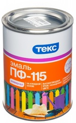 Эмаль ТЕКС ПФ-115 голубая 0,9кг
