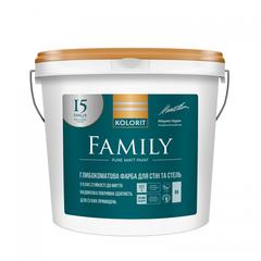 Краска интерьерная Kolorit Family базис А 0,9л