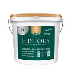 Краска интерьерная Kolorit History, базис А 9л