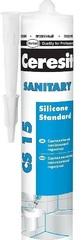 Герметик силиконовый Ceresit CS 15 санитарный прозрачный 280 мл