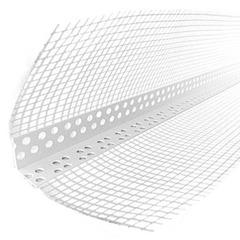 Уголок перфорированный пластиковый с сеткой 3,0м Ал (ЭКО)