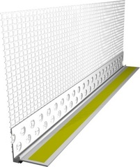 Профиль оконный примыкающий с сеткой 6мм 2,4м