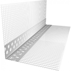 Угол штукатурный фасадный 3м с сеткой перфорированный пластиковый